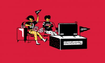 The feature image is an illustration of people sitting in front of a TV watching sports.