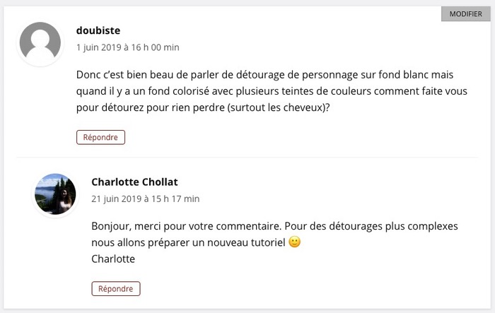 Sujets commentaires