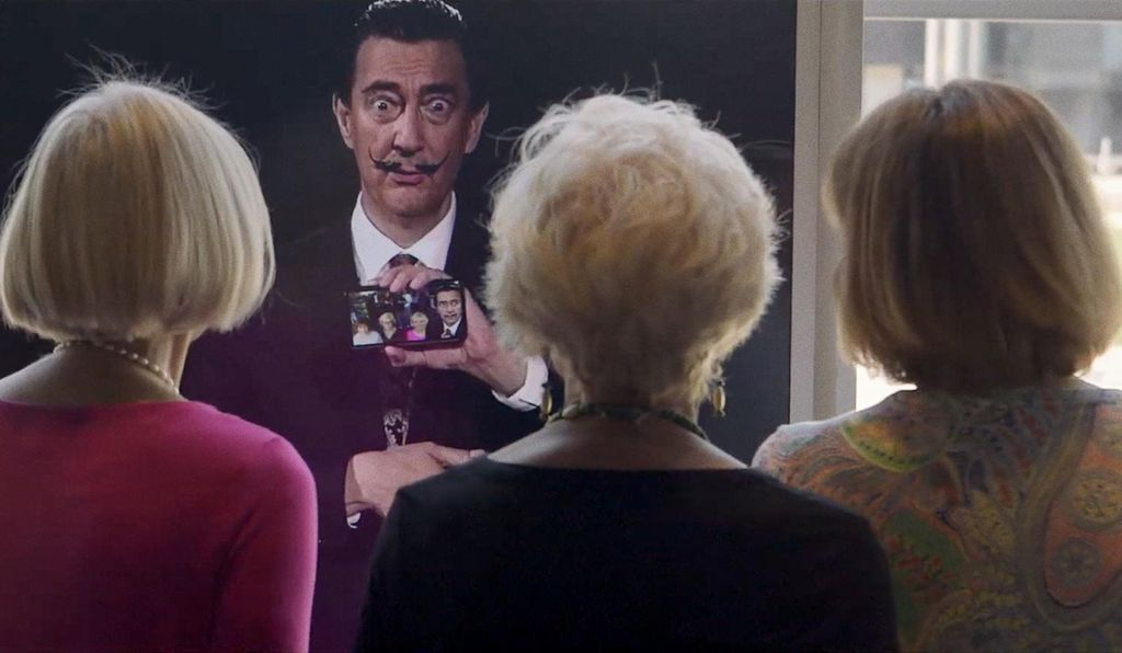 As part of the exhibit, you can take a selfie with Dali.