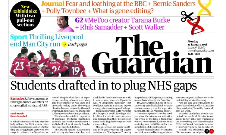 The Guardian tabloid format