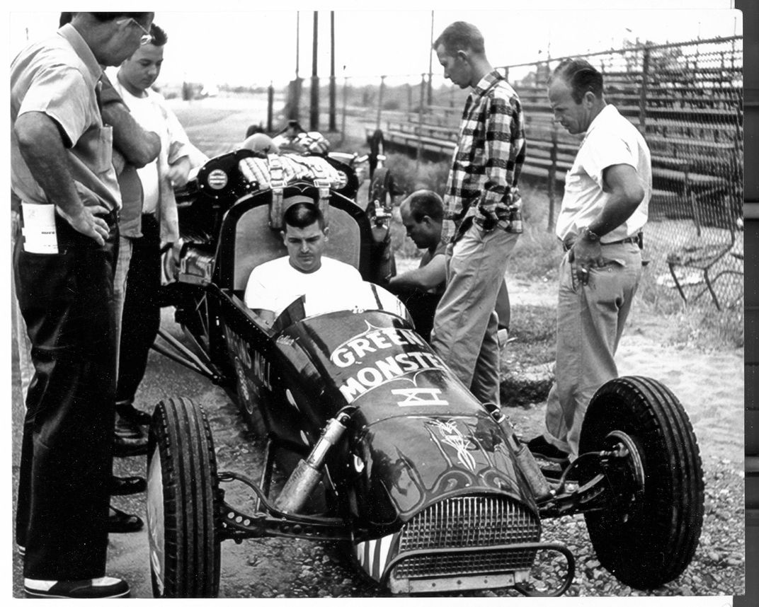 Mickey Thompson in Green Monster