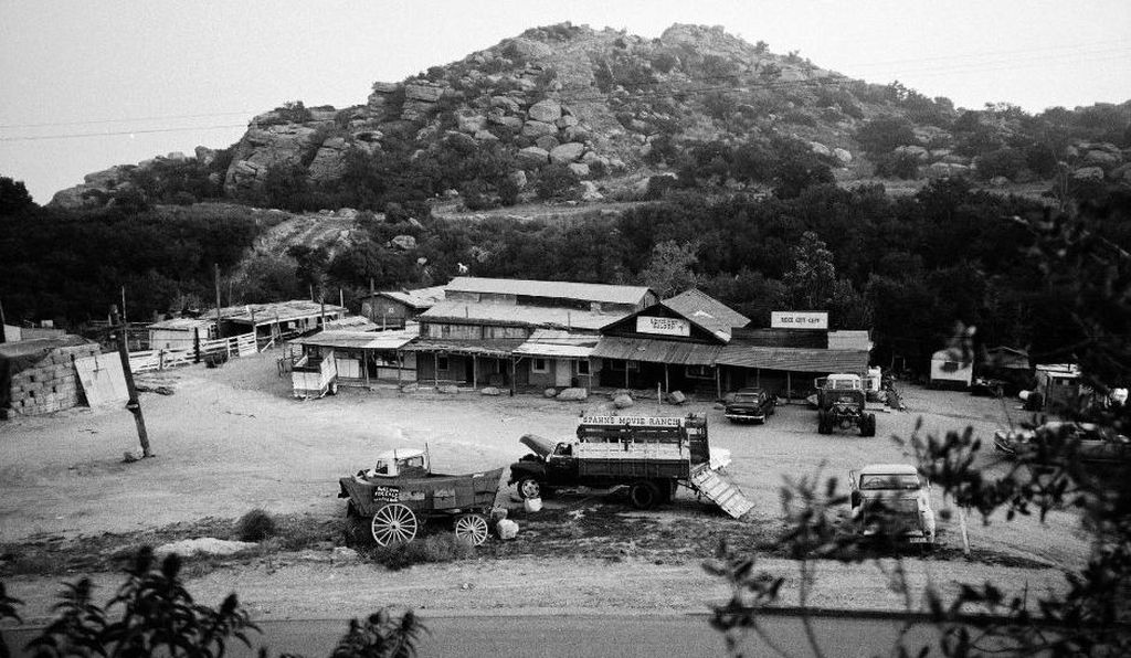 Overview of Spahn Ranch, a former Hollywood filming location where the Manson Family later took up residence. 1970.
