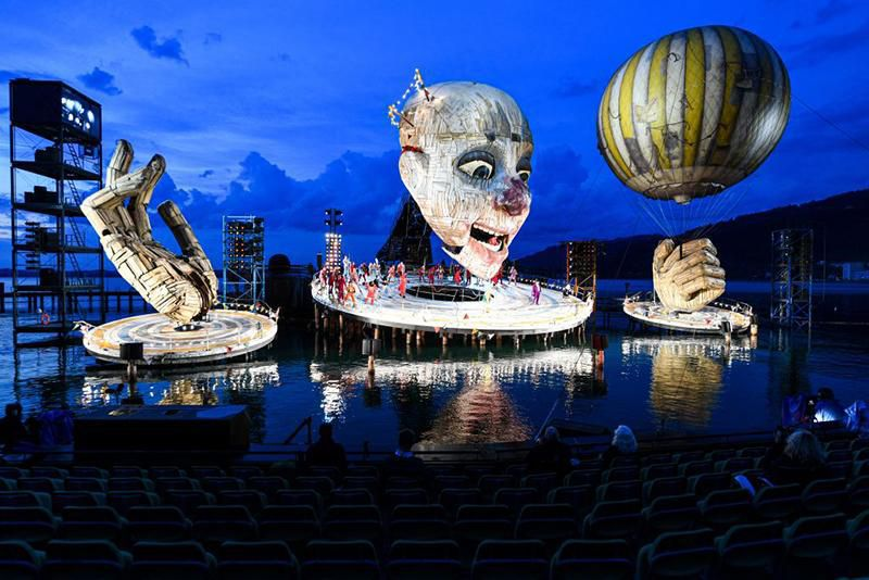 There's a Massive Jester Floating on Austria's Lake Constance   Travel