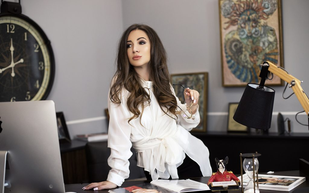 Elvira Gavrilova – the Chief Editor of the Financoff magazine, successful businesswoman, talented producer, and fashion designer