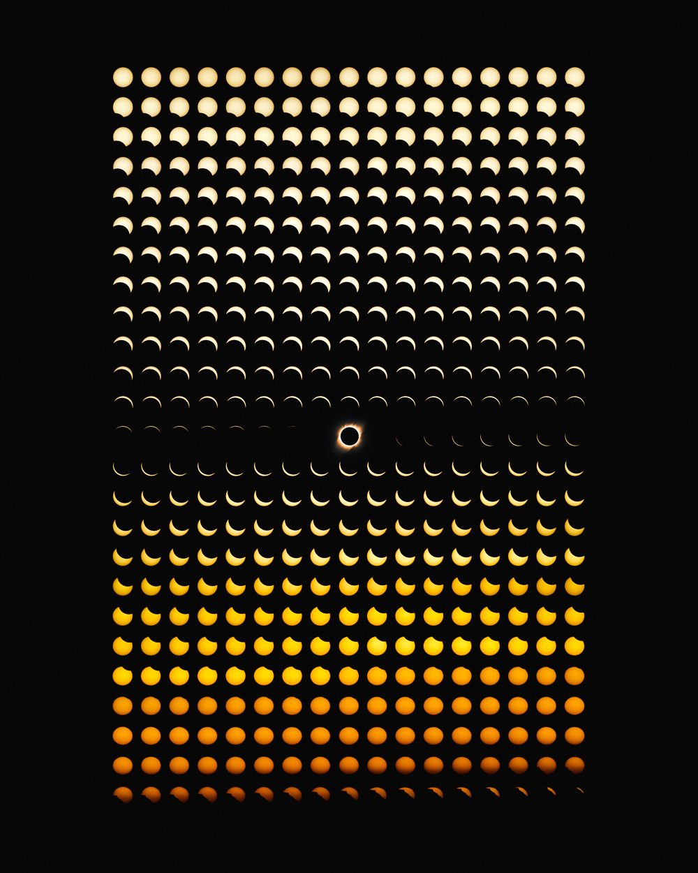 Chart-Like Composite Photographs by Dan Marker-Moore Show the Progression of the 2019 Solar Eclipse