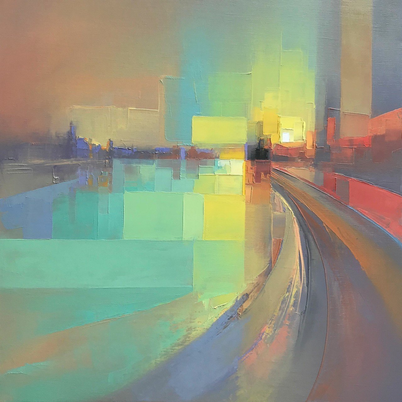 Landscapes by Jason Anderson Blend Precise Pixelation and Hazy Abstraction