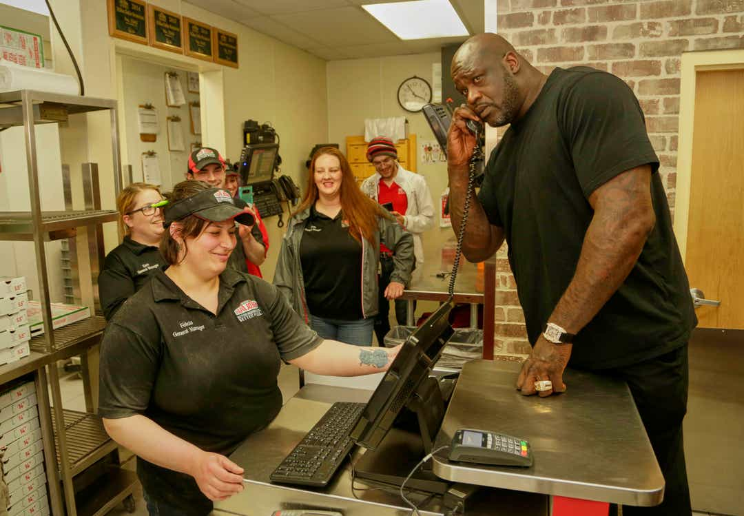 Shaquille O'Neal endorses Papa John's and more