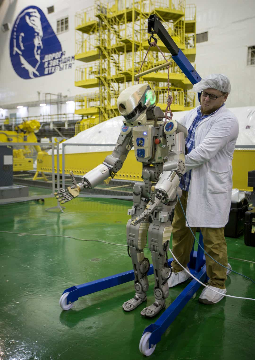 Soyuz rocket launches in Russia carrying humanlike robot to ISS