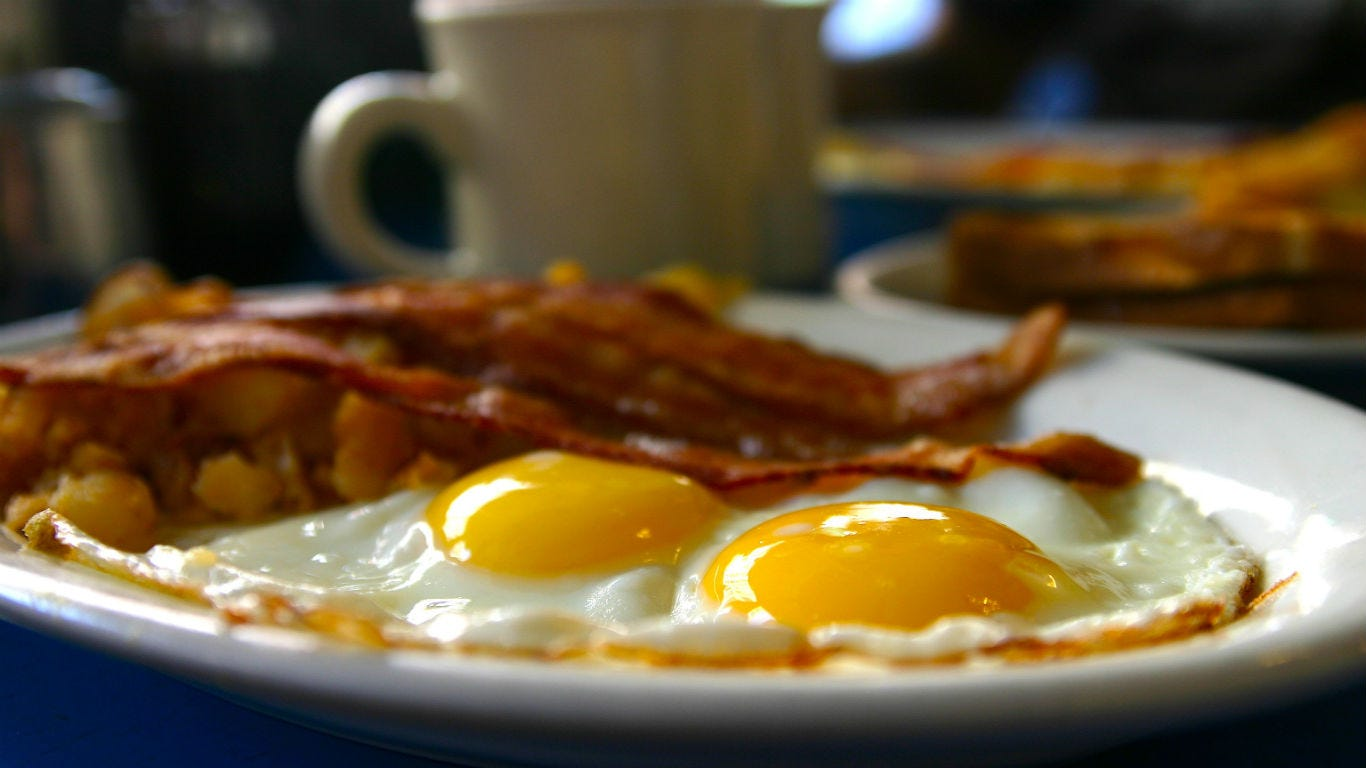 The cost of breakfast the year you were born
