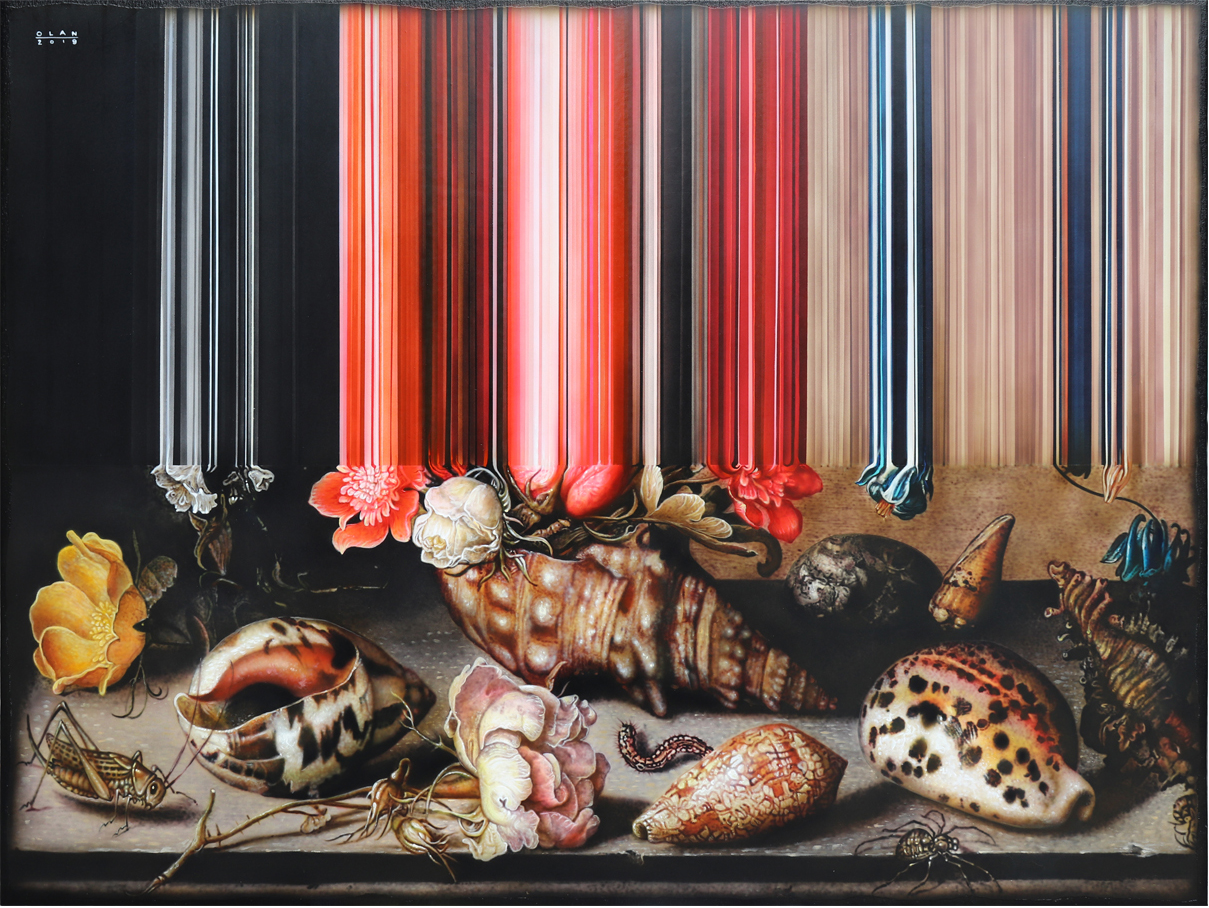 Glitched Paintings by Olan Ventura Give a Contemporary Twist to 17th Century Still Lifes