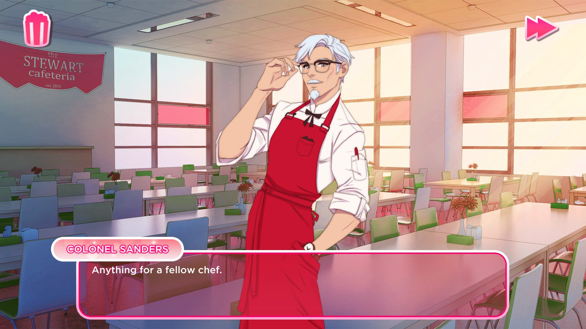 Is chain cooking up a Col. Sanders dating sim?