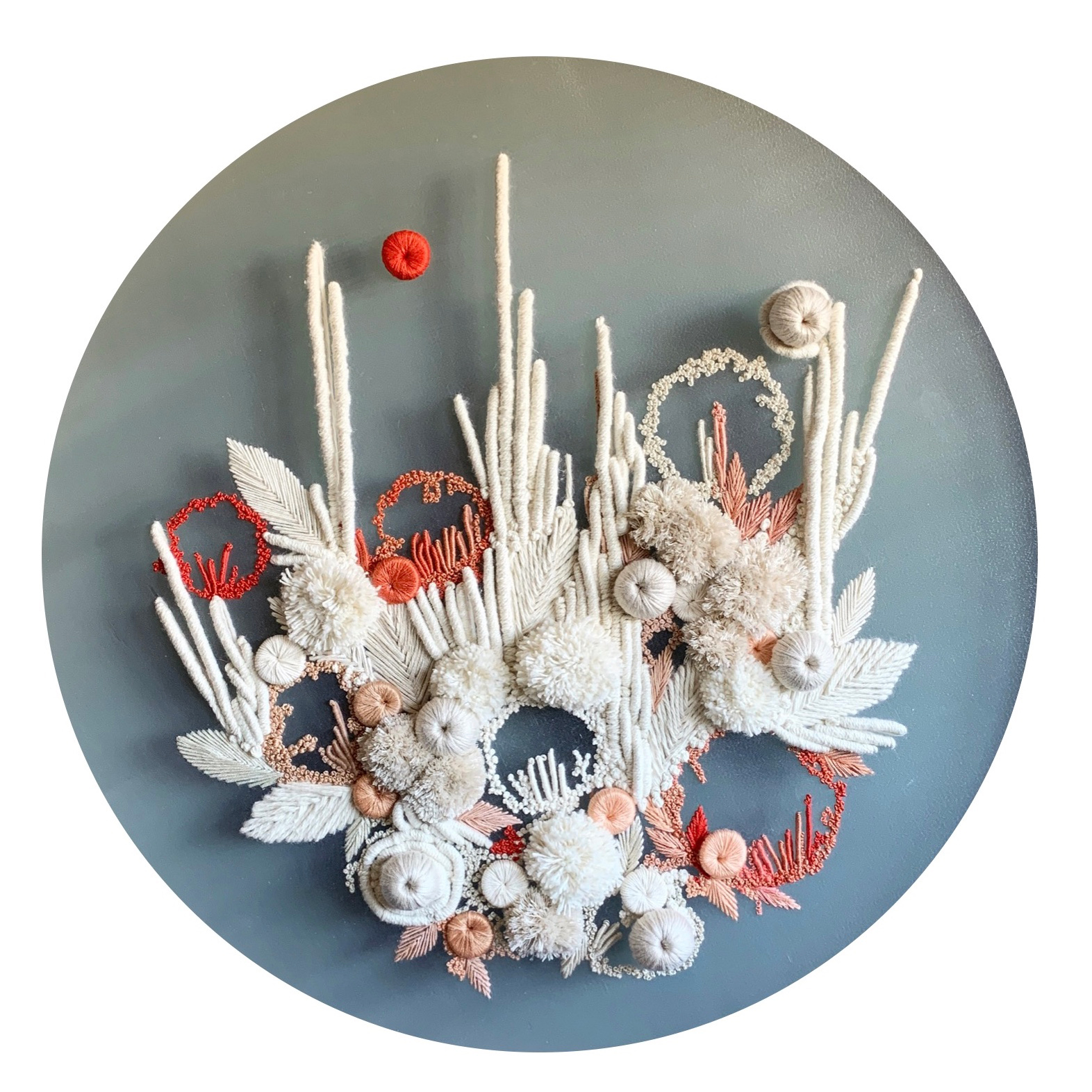 Lush Botanical Forms Translated Into Abstract Embroideries by Helen Wilde