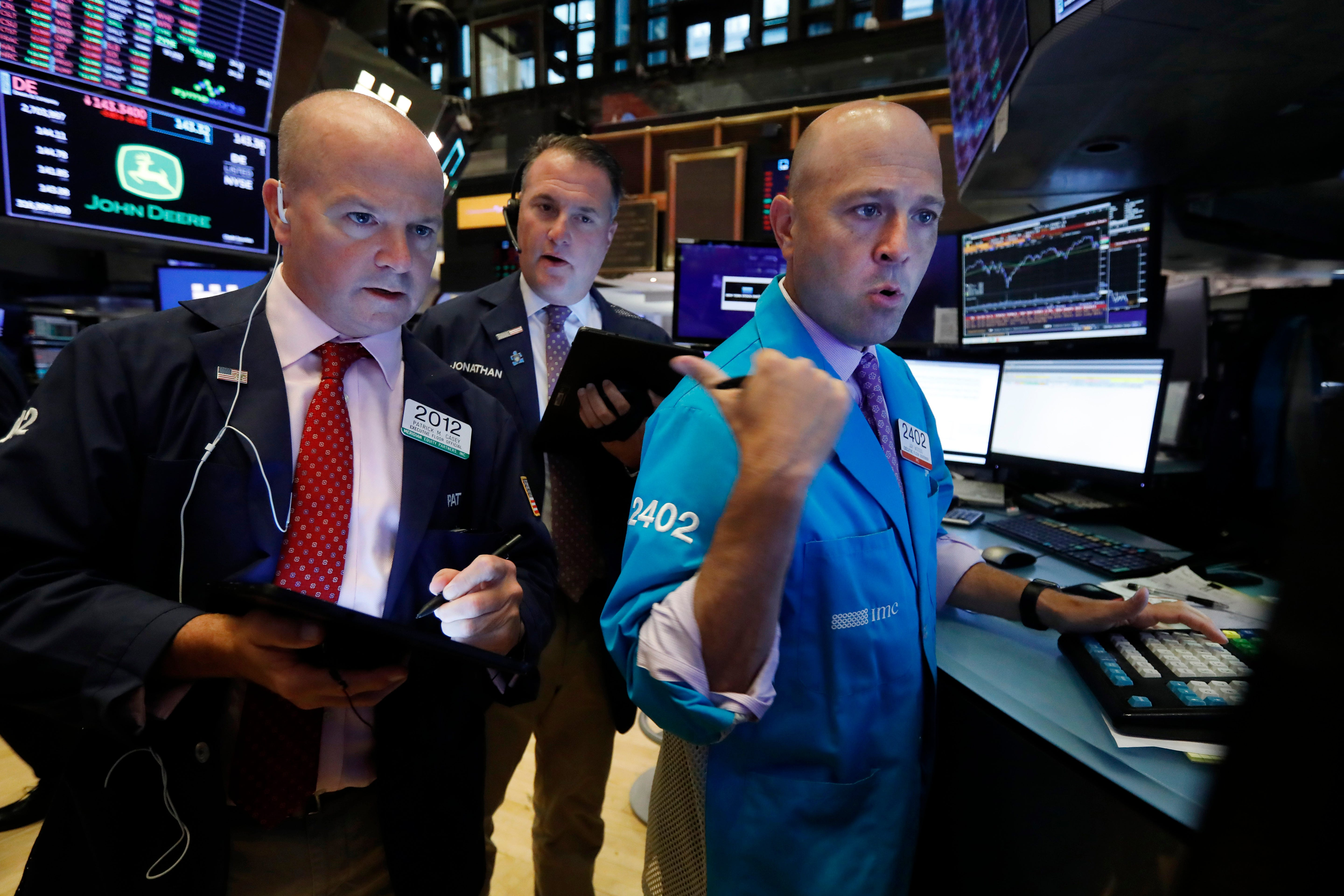Market rebounds from August plunge on trade hopes, nears record