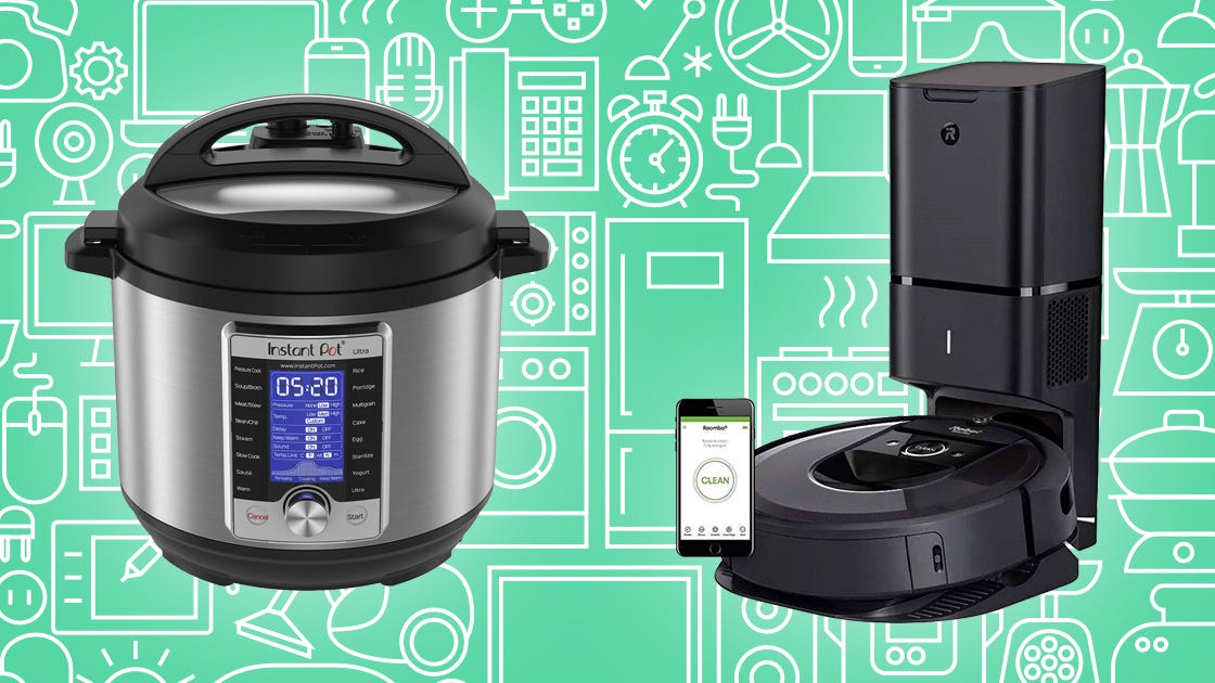 Snag incredible prices on Instant Pots, robot vacuums, electric knives, and more.