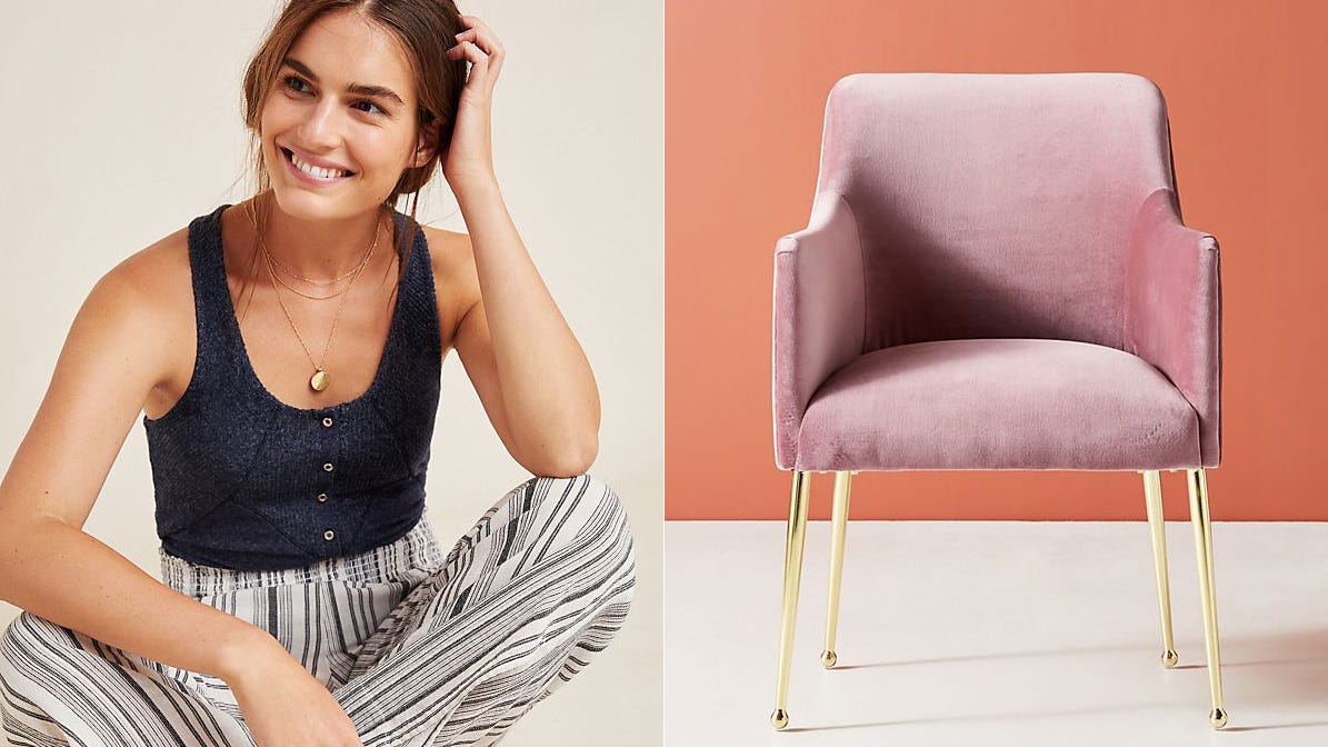You can get crazy deals on clothes and home decor at Anthropologie right now