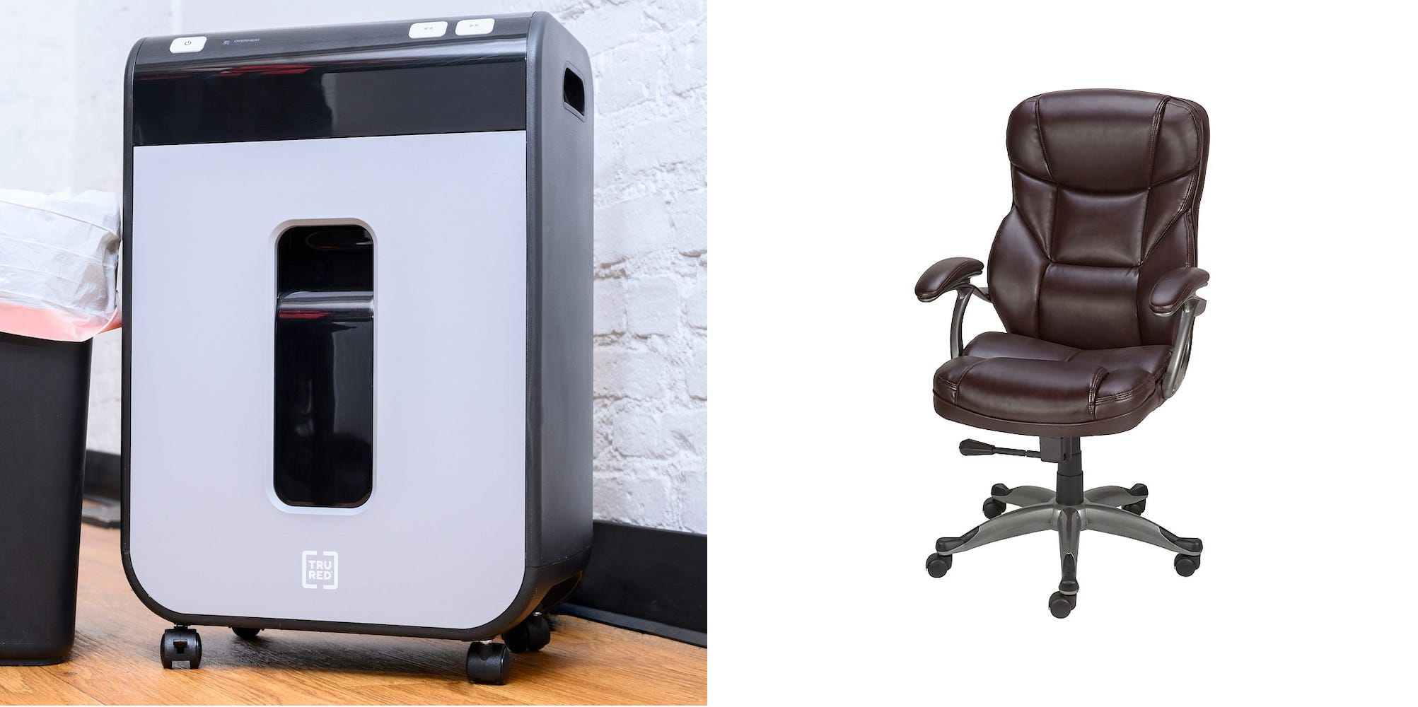 Save on office chairs, paper shredders and more