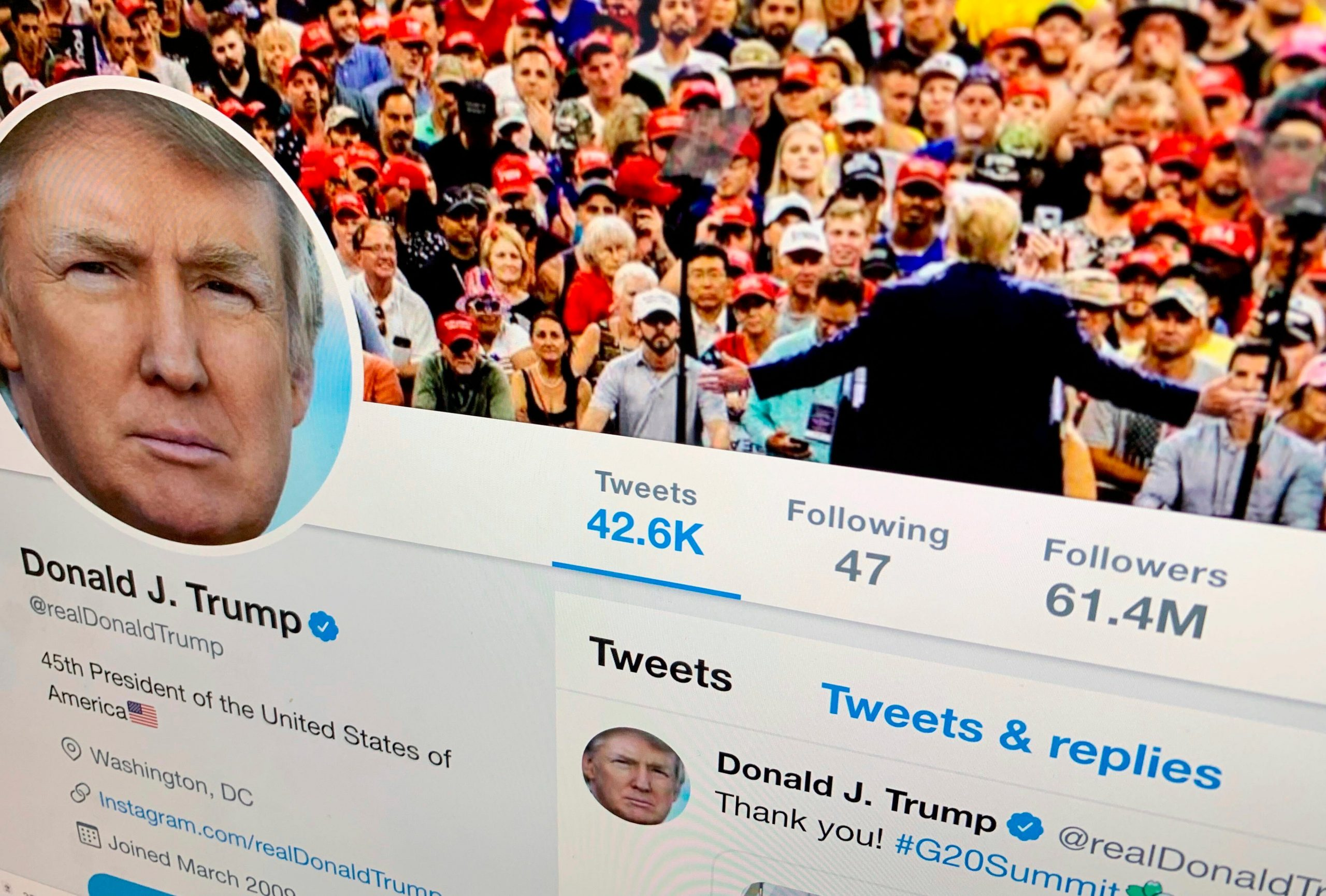 Twitter won't give Trump special treatment post-presidency