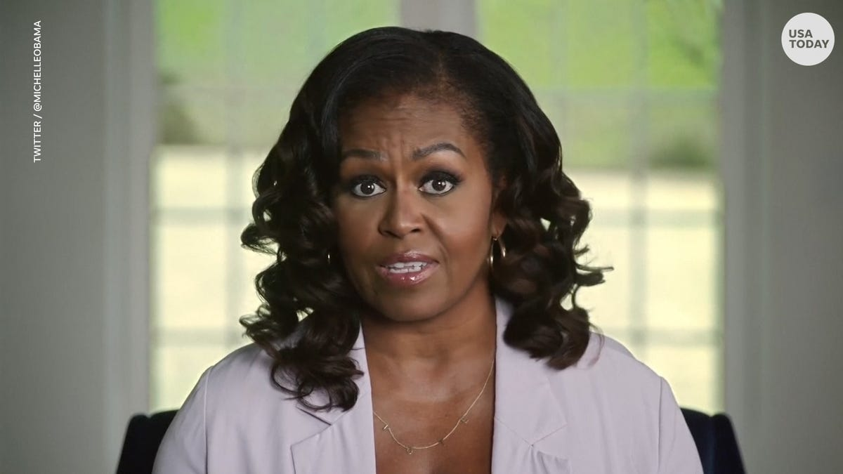 Michelle Obama calls for Trump to be 'permanently' banned as pressure mounts on Facebook, Twitter and YouTube
