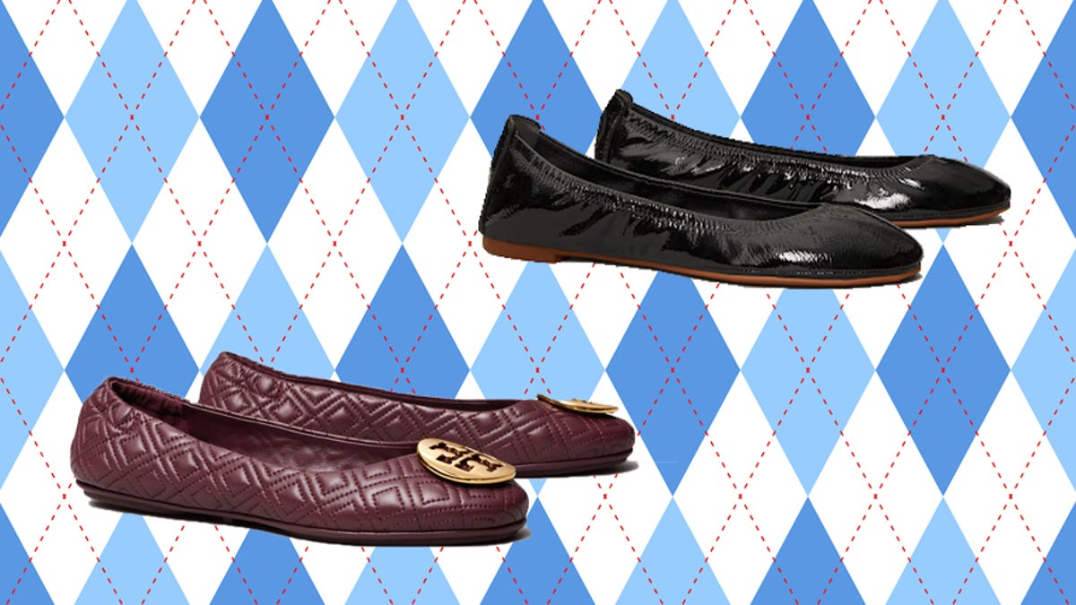 You can get Tory Burch flats for more than 50% off right now at the Semi-Annual Sale