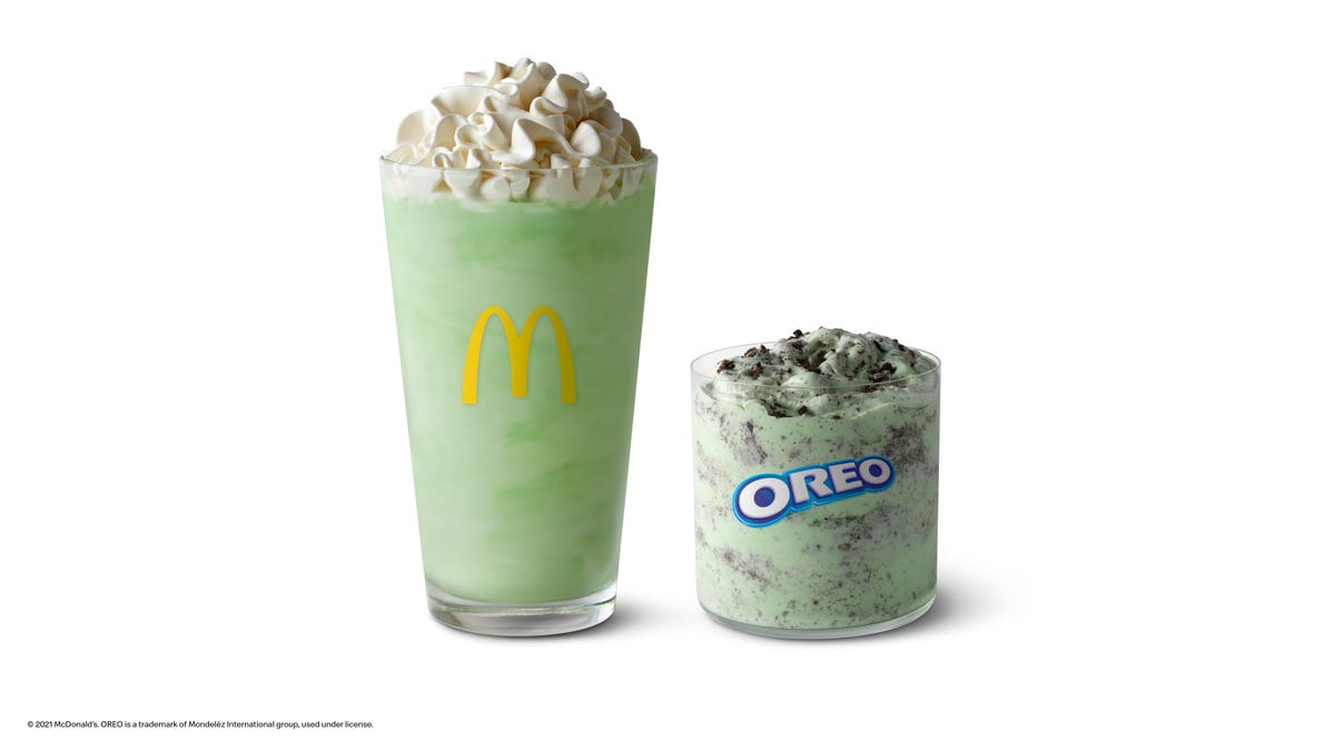 McDonald's Shamrock Shake is back for a limited time along with the Oreo Shamrock McFlurry