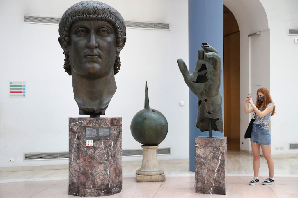Colossal Statue of Roman Emperor Regains Missing Finger Discovered in Louvre's Collection