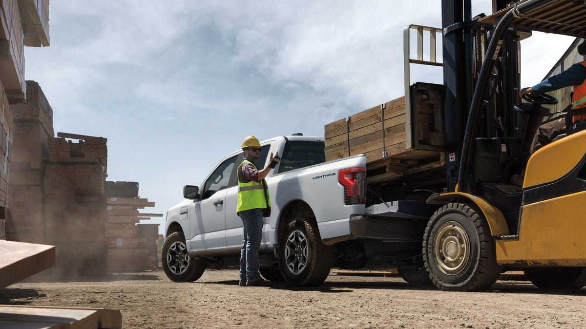Ford debuts Ford F-150 Lightning Pro electric pickup aimed at work-truck buyers