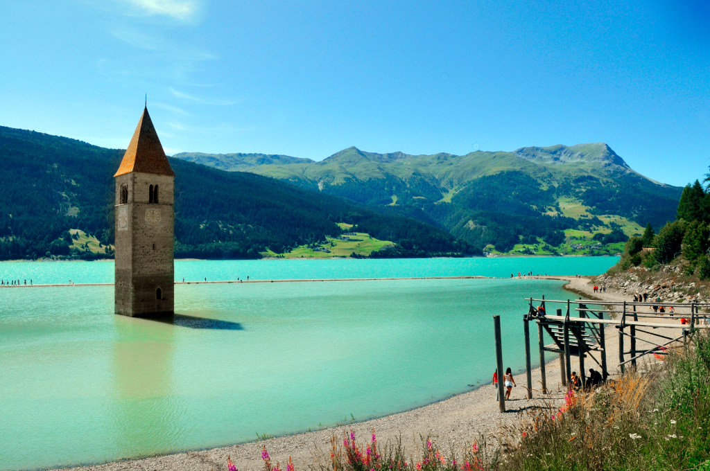 Submerged for Seventy Years, Lost Italian Village of Curon Emerges from Drained Lake