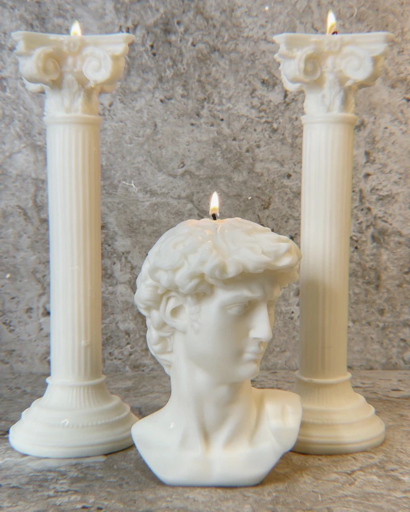 Objet: Candles Inspired by Classical Sculptures