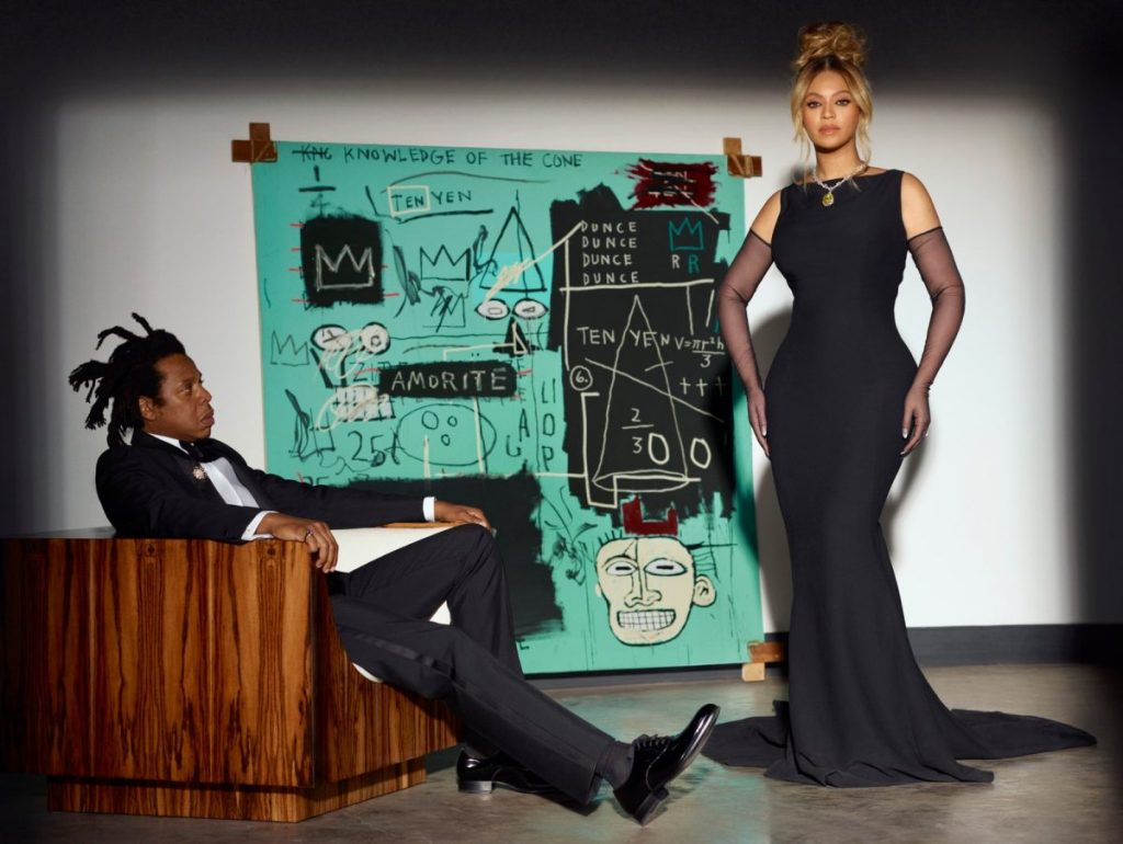 Beyoncé and Jay-Z Pose with Long-Unseen Basquiat in Tiffany Campaign